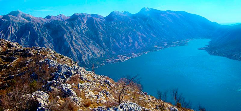 Hiking in the coastal mountains of Montenegro