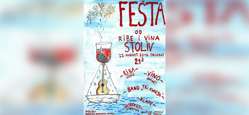 Festival of fish and wine in Stoliv