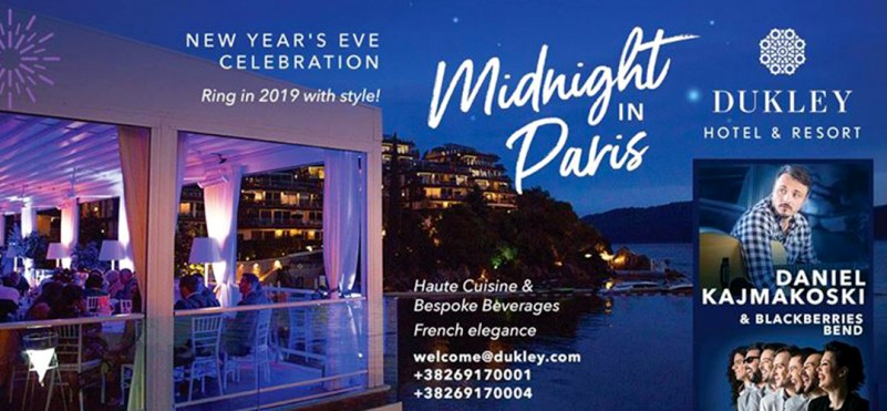 Celebration of the New Year 2019 in the hotel Dukley - Midnight in Paris!