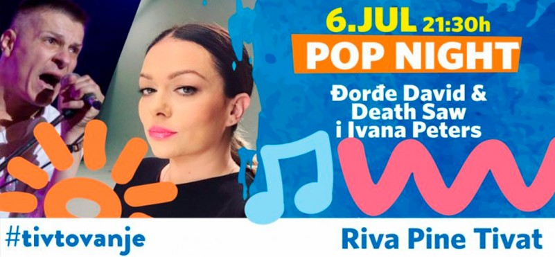 Pop music night in Tivat