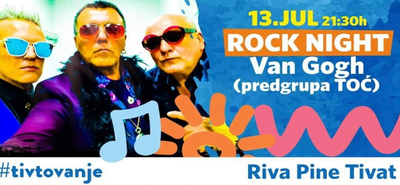 The night of rock music in Tivat