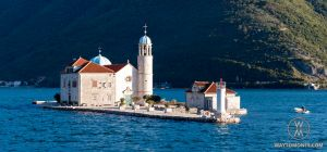 In Boka-Kotor bay, near a cultural sightseeing Perast town, there is the only of its kind of the Eastern Adriatica artificial island Gospa od Škrpjela with the Church of XVIII century erected on a small reef. The name of the island translated from Serbian as Our Lady of the Rocks and reflects its history...
