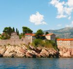 The famous island-hotel of St. Stephen, which is the hallmark of Montenegro.