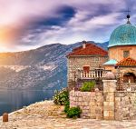 Island Gospa od Škrpela (Our Lady of the Rocks) in Montenegro