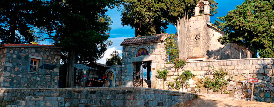 Monastery of the Holy Archangel Michael on the Island of Flowers in Montenegro