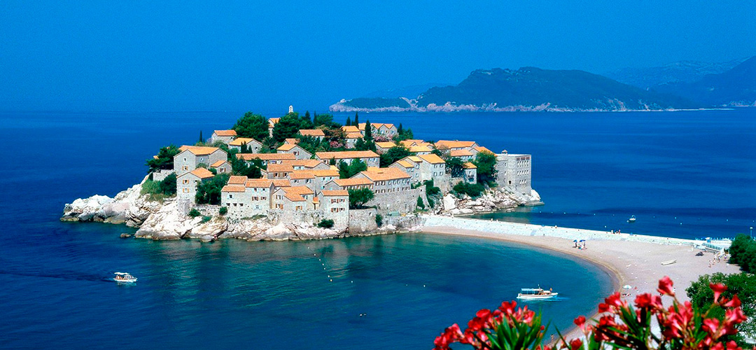 The island of Saint Stephen (Sveti Stefan)