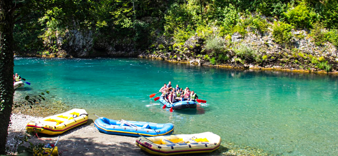 Rivers in Montenegro for rafting.