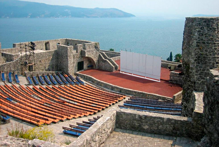 Summer amphitheater in the fortress of Kanli Kula, Herceg Novi, Montenegro