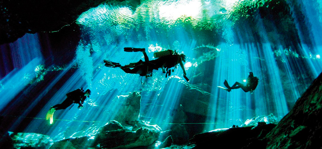 Diving in the caves
