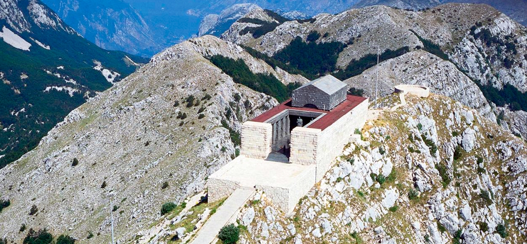 The mausoleum of Petar II Petrovic Njegos in the Lovcen National Park, Cetinje, Montenegro
