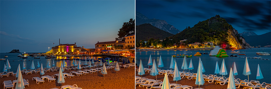 Petrovac in the evening