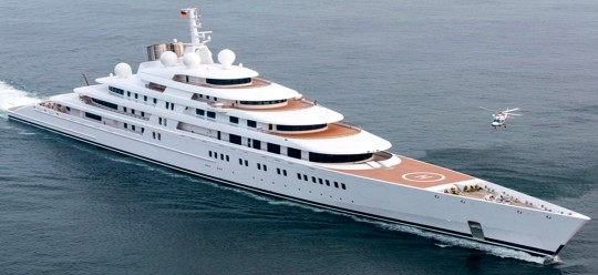 The world largest private yacht Azzam sailed to Tivat