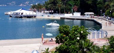 Tivat city beach