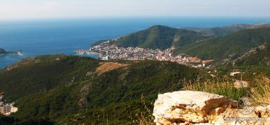 Viewing point of the Budva Riviera