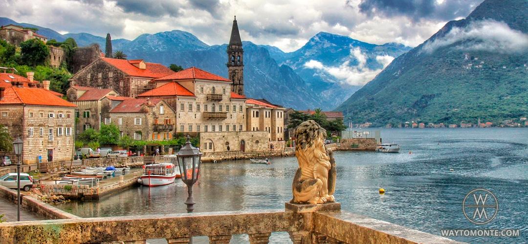 Grad Perast U Boca Kotorske U Crnoj Gori