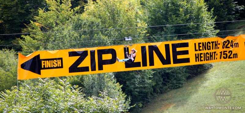 ZipLine over the Tara river.photo