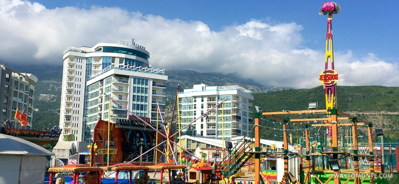 Park of attractions in Budva.photo