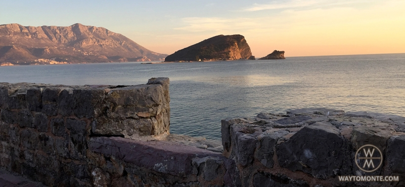 Fortress wall around Old town of Budva.photo
