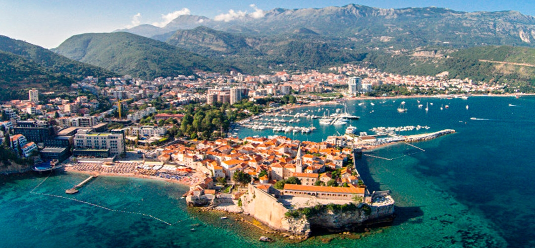Town Budva is the main tourist center of Montenegro