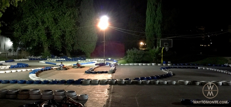 Karting on the seafront of Budva.photo