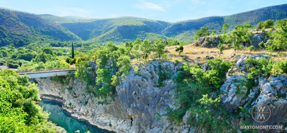 The greatness of the canyons of Montenegro
