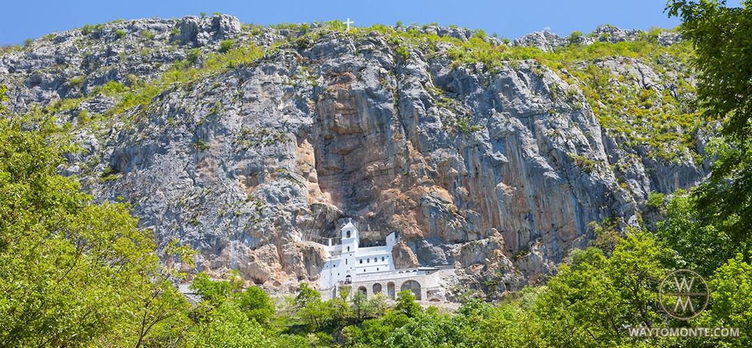 mapa crne gore manastir ostrog Sveta mjesta u Crnoj Gori: Ostrog — Dajbabe — Hram Hristovog  mapa crne gore manastir ostrog