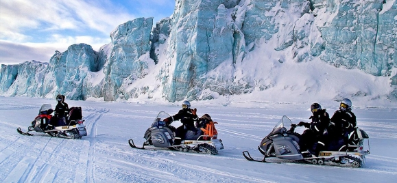 Winter tour: a trip on snow vehicle (snowmobile) in Montenegro