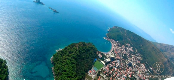 Paragliding over the town of Petrovac na Moru